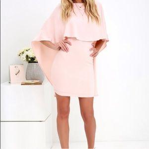 Lulus open back cocktail dress in light pink